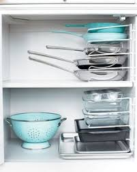 Smart Idea Use A Wire Organizer Turned On Its Side To Stack Your