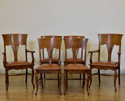Set Of Six Edwardian Art Nouveau Oak & Leather Dining Chairs Arts ... Set Of 8 Vintage Midcentury Art Nouveau Style Boho Chic Italian Stunning Of Six Inlaid Mahogany High Back Chairs 2 Pair In Antiques Atlas Lhcy Solid Wood Ding Chair Armchair Lounge Nordic Style A Oak Set With Table Seven Chairs And A Side Ding Suite Extension Table France Side In Leather Chairish Gauthierpoinsignon French By Gauthier Louis Majorelle Caned An Edouard Diot Art Nouveau Walnut And Brass Ding Table Four 1930s American Classical Shieldback 4