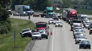 100 Beelman Trucking Car Crash Backs Up Interstate 255 Traffic Near Caseyville IL