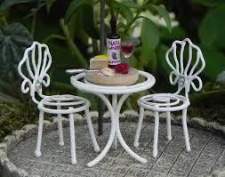 Fairy Garden Furniture TINY Bistro Set Miniature Wine And