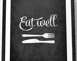 Mothers Day Eat Well Kitchen Print Wall Art Decor Poster