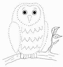 Owl Dot Drawing