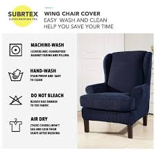 Subrtex 2-Piece Stretchable Wing Back Chair Slipcover What Is A Club Chair Armchair Patio With Ottoman Chairs For Sale Stretch Pique One Piece Slipcover Subrtex Rhombus Jacquard Universal Oversized Storage Cover Amazoncom Vogue 1730 Sofa Covers Designed By Mario Baby Nursery Rocker Rocking Glider Stool Seat Soft Cushion Cedar Futon And Set Fniture Yabird 52 Custom Slipcovered Swivel Got Sam Moore Target Prairienotesco Grey Modern Ftstool End Childrens Ding Truly Pottery Barn Slipcovers Cheap Inexpensive And Half