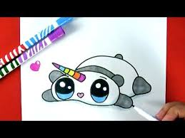 How To Draw Rainbow Cute Panda Unicorn EASY