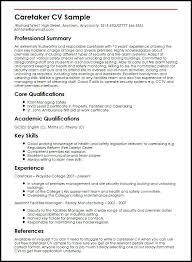 Examples Of Qualifications For A Resume Caretaker Sample Core