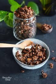 cuisiner cru 70 recettes food granola gourmand au cacao noisettes maca et fleur de sel ig bas