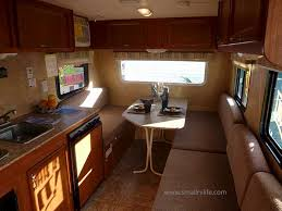 Inside The 15RB With Dinette Setup In Front