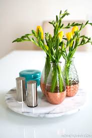 DIY Copper Dipped Vases For A Simple Spring Centerpiece