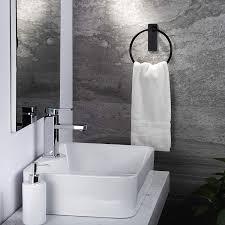 zunto selbstklebend handtuchhalter schwarz handtuchstange
