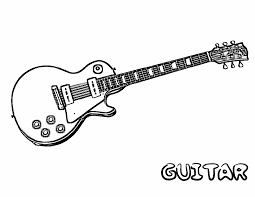 Guitar Coloring Pages 4