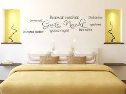 details zu wandtattoo spruch wandsticker schlafzimmer gute nacht in 8 sprachen wand tattoos