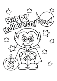Cute Halloween Vampire Coloring Pages