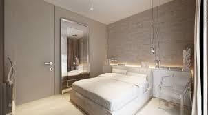 Facelift Grey Bedroom Design With Huge Mirror