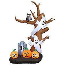 Halloween Blow Up Yard Decorations Canada by Amazon Com Halloween Inflatables 8 U0027 Tall Inflatable Dead Tree W