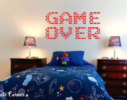 Rta840 Words Sign Game Over Gamer Controller Xbox 360 Mario Play Station Boys Beautiful Interior Gift