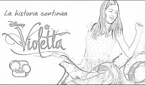 Violetta Coloring Pages Sketch Page