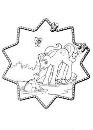 Ponies Picnic My Little Pony And Turtle Coloring Page