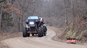 Giant Mega Truck Tows Big Mega Truck To Mud Bog And They Play Like ...