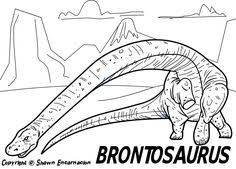 Dinosaur Say Goodnight Coloring Page Pages