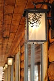 log cabin kitchen lighting ideas lodge home decor contemplative cat