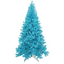 4 Foot Sky Blue Artificial Christmas Tree 150 DuraLit Incandescent Teal Mini Lights