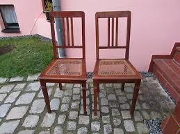 2 alte stühle stuhl mit geflecht küchenstuhl wohnzimmer