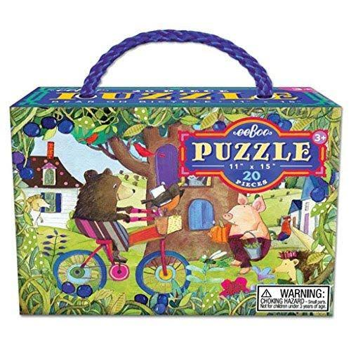 Eeboo Bear On Bicycle Puzzle - 20 Pieces