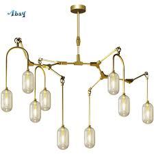 100 Art Deco Shape Nordic Capsule Branches Chandelier Lighting For