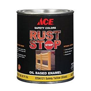 Ace Rust Stop Enamel Paint - 255A121 Safety Yellow Gloss