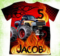 100 Monster Truck Party Ideas Amazoncom Personalized TShirt