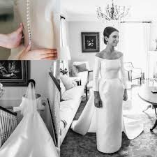 1960s long sleeve wedding dresses a line jewel neck backless