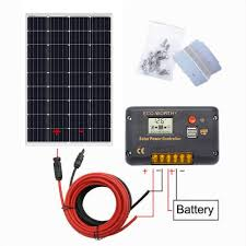 100 Vans Homes Details About 120W Solar Panel W Charge Controller 12V Off Grid RV Boat Tiny US