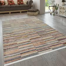 orient teppich kurzflor vintage muster streifen