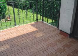 Runnen Floor Decking Outdoor Brown Stained by Naturesort N4 Otsa1 Bamboo Composite Deck Tile 6 Slats 11 Pack