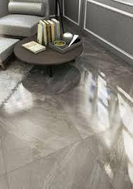 polished grey porcelain tile for the home pinterest