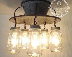 FLUSH MOUNT Ceiling Light Lamp Goods Exclusive Mason Jar Fixture 5