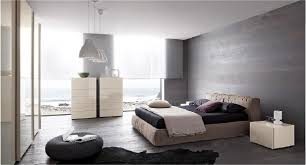 Warm Bedroom With Dark Gray Walls Also Glossy White Vanity And Shabby Bed
