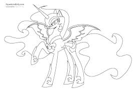 Princess Luna Printable Coloring Pages My Little Pony Page