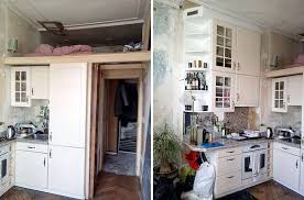 BEFORE PHOTOS Of An Apartment That Received A Modern Updated With Loft Bed
