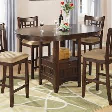 Formal Dining Room Sets Walmart by Coaster Company Lavon Dining Table In Warm Brown Counter Height