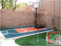 Backyards: Trendy Basketball Backyard Court. Backyard Basketball ... Amazing Ideas Outdoor Basketball Court Cost Best 1000 Images About Interior Exciting Backyard Courts And Home Sport X Waiting For The Kids To Get Gyms Inexpensive Sketball Court Flooring Backyards Appealing 141 Building A Design Lover 8 Best Back Yard Ideas Images On Pinterest Sports Dimeions And Of House