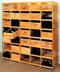 caisse a vin en bois casiers à bouteille casier vin rangement du vin aménagement