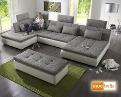 wohnlandschaft sofa free mit schlaffunktion und 4x