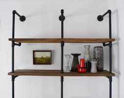 diy reclaimed wood and pipe shelving unit hindsvik at home blog
