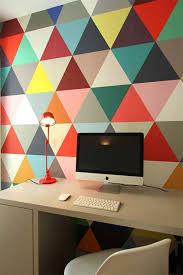 tapisserie pour bureau le papier peint géométrique en 50 photos avec idéеs leroy merlin