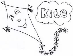 Happy Face Kite Coloring Page Color