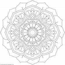 Flower Mandala Coloring Pages 274
