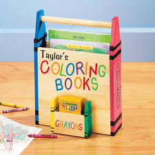 Personalized Coloring Book Holder