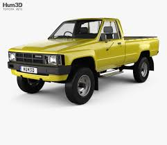 100 Toyota Pickup Truck Models Hilux DX Long Body 1983 3D Model