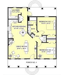 2 Bedroom Cabin Plans Colors Cottage Style House Plans 1097 Square Foot Home 1 Story 2